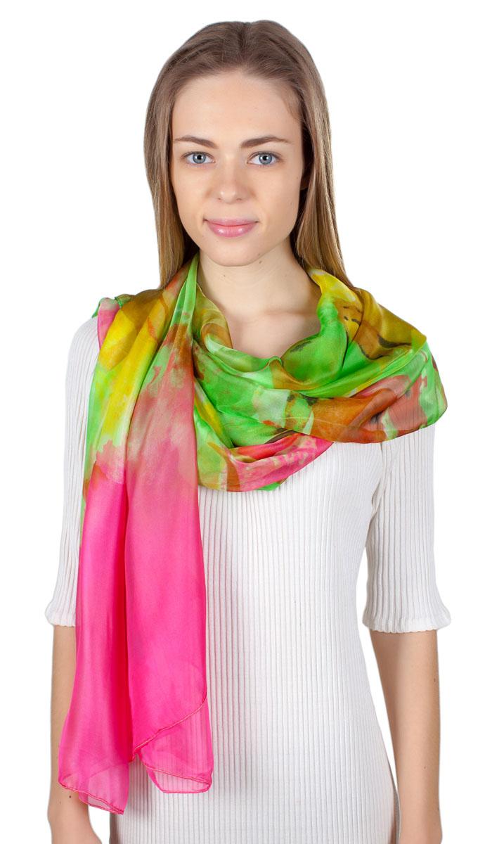 Палантин Sophie Ramage, цвет: зеленый, розовый, желтый. HL-11701-18. Размер 110 см х 190 смHL-11701-18Яркий палантин Sophie Ramage изготовлен из качественного модала. Модель оформлена оригинальным принтом. Изделия Sophie Ramage приятные на ощупь и подойдут к любому стилю.