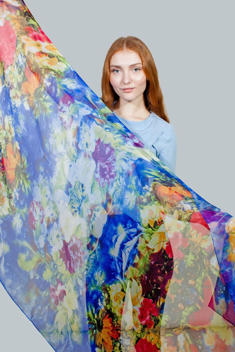 Палантин Sophie Ramage, цвет: синий, красный, оранжевый. PP-11707-5. Размер 100 см х 180 смPP-11707-5Яркий палантин Sophie Ramage изготовлен из шелка и полиэстера. Модель оформлена оригинальным принтом. Изделия Sophie Ramage приятные на ощупь и подойдут к любому стилю.