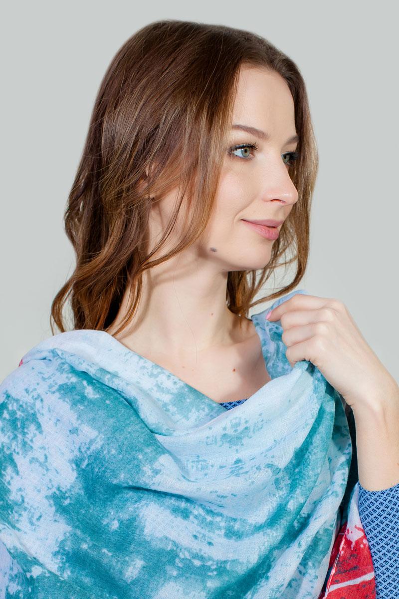 Палантин Sophie Ramage, цвет: бирюзовый, голубой. PP-11713-2. Размер 86 см х 180 смPP-11713-2Яркий палантин Sophie Ramage изготовлен из модала и шелка. Модель оформлена оригинальным принтом. Изделия Sophie Ramage приятные на ощупь и подойдут к любому стилю.
