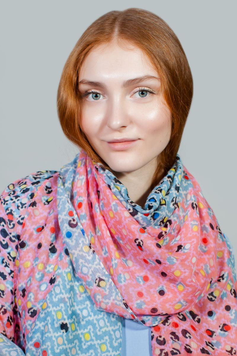 Палантин Sophie Ramage, цвет: розовый, голубой. RW-11701-2. Размер 80 см х 180 смRW-11701-2Яркий палантин Sophie Ramage изготовлен из модала и шелка. Модель оформлена оригинальным принтом. Изделия Sophie Ramage приятные на ощупь и подойдут к любому стилю.