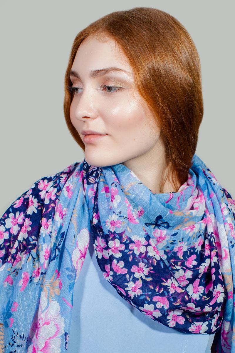 Палантин Sophie Ramage, цвет: голубой, розовый. RW-11701-3. Размер 80 см х 180 смRW-11701-3Яркий палантин Sophie Ramage изготовлен из модала и шелка. Модель оформлена оригинальным принтом. Изделия Sophie Ramage приятные на ощупь и подойдут к любому стилю.