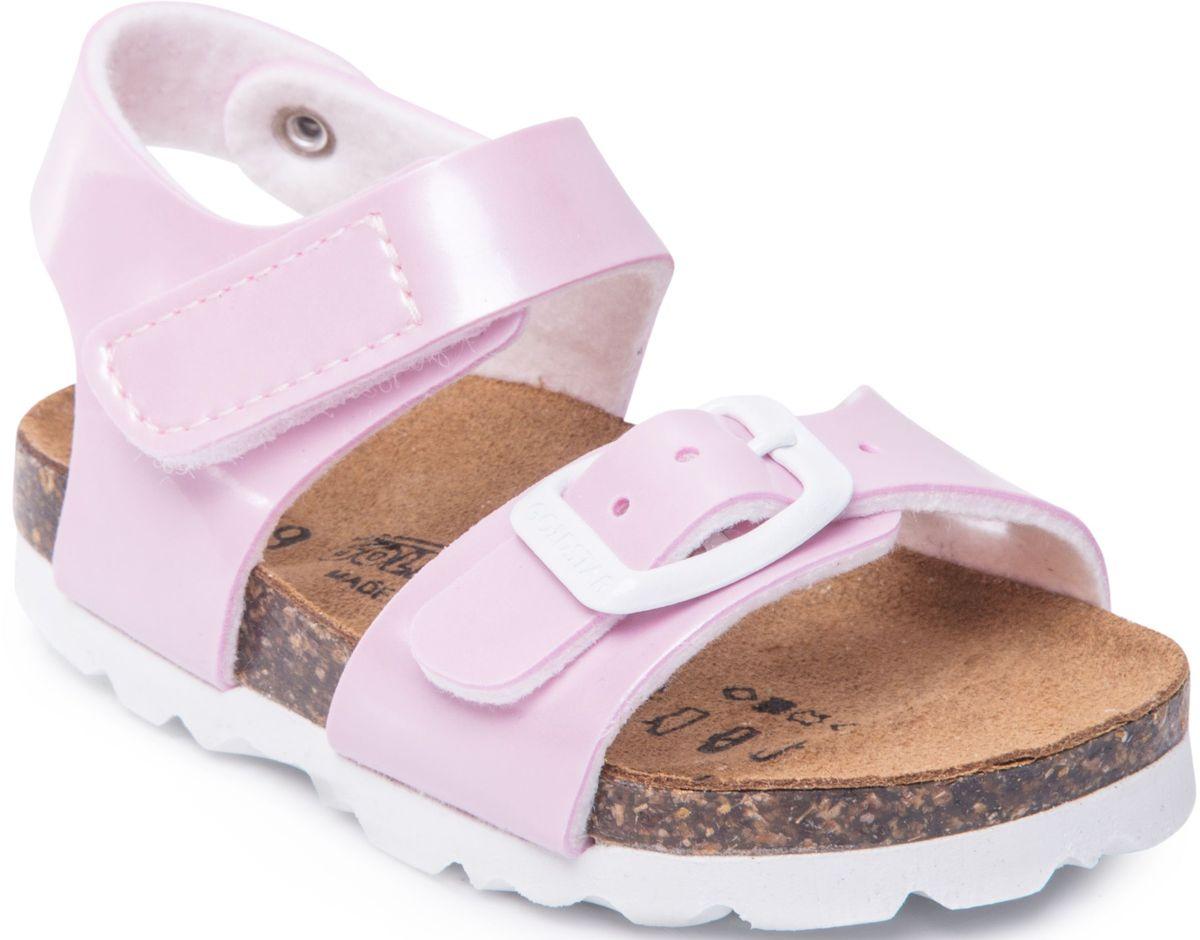Сандалии для девочки Goldstar, цвет: розовый. 1847/CIPRIA. Размер 331847/CIPRIAМодные сандалии от Goldstar не оставят равнодушной вашу девочку! Модель изготовлена из полиэстера. Ремешок с застежкой - пряжкой на мысе, оформленный названием бренда и ремешок с застежкой - липучкой на щиколотке, прочно закрепят обувь на ножке и отрегулируют нужный объем. Стелька из полиэстера комфортна при движении. Подошва с рифлением обеспечивает отличное сцепление с поверхностью. Практичные и стильные сандалии займут достойное место в гардеробе вашей девочки.