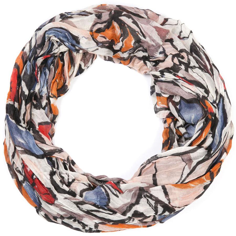 Снуд-хомут женский Mitya Veselkov, цвет: оранжевый. SNUD2-FLOWER21. Размер 60 см x 80 смSNUD2-FLOWER21Женский снуд-хомут от Mitya Veselkov - аксессуар, с помощью которого легко создать элегантный запоминающийся образ! Особенности модели: нежная на ощупь текстура; тонкость и удивительная лёгкость; изящный дизайн; 100% хлопок.