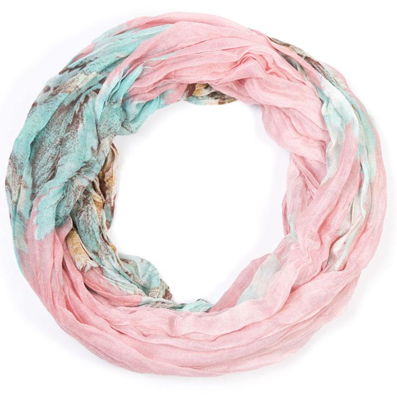 Снуд-хомут женский Mitya Veselkov, цвет: розовый. SNUD2-FLOWER14. Размер 60 см x 80 смSNUD2-FLOWER14Женский снуд-хомут от Mitya Veselkov - аксессуар, с помощью которого легко создать элегантный запоминающийся образ! Особенности модели: нежная на ощупь текстура; тонкость и удивительная лёгкость; изящный дизайн; 100% хлопок.