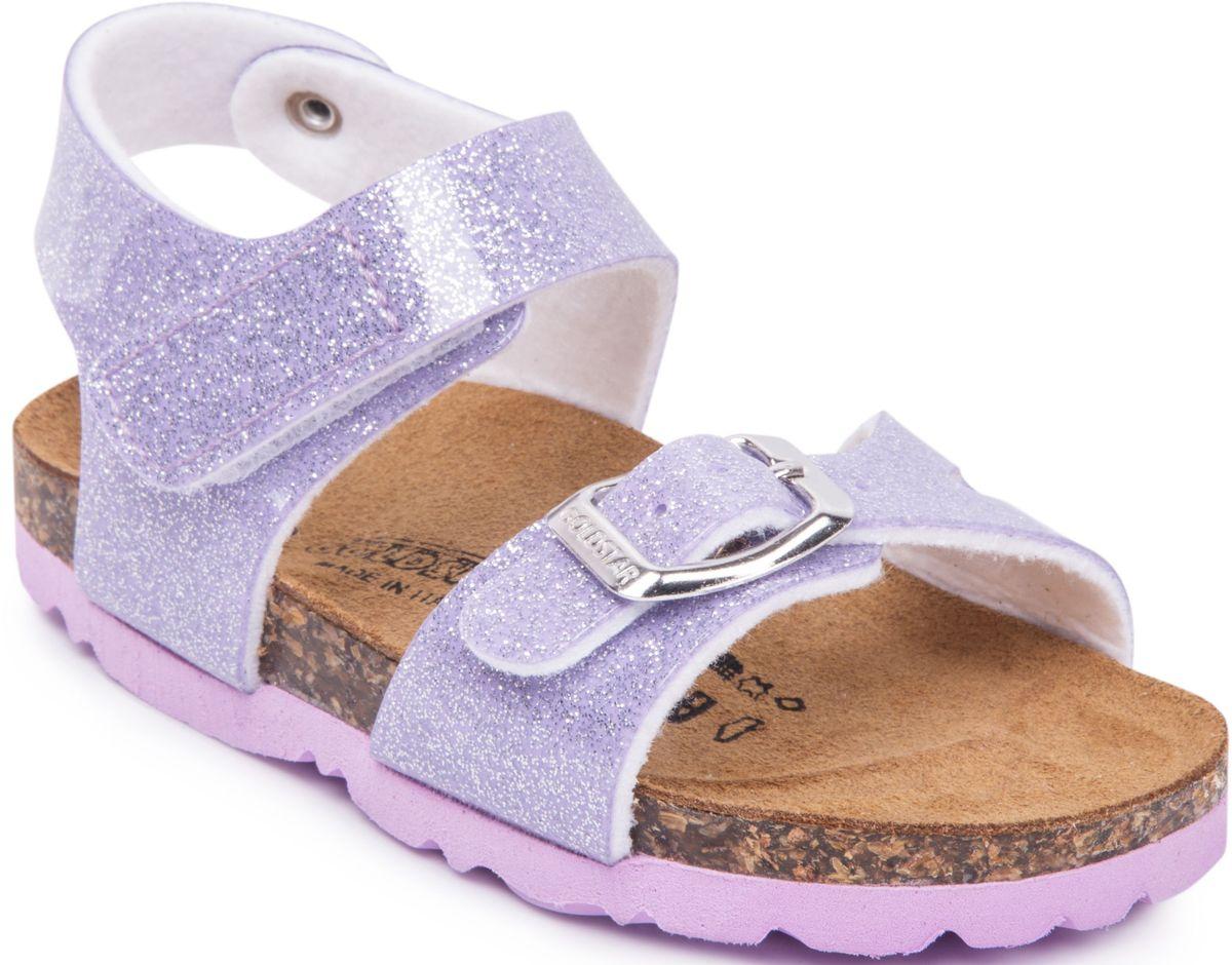 Сандалии для девочки Goldstar, цвет: сиреневый. 1847/BR/LILLA. Размер 231847/BR/LILLAМодные сандалии от Goldstar не оставят равнодушной вашу девочку! Модель изготовлена из полиэстера. Ремешок с застежкой - пряжкой на мысе, оформленный названием бренда и ремешок с застежкой - липучкой на щиколотке, прочно закрепят обувь на ножке и отрегулируют нужный объем. Стелька из полиэстера комфортна при движении. Подошва с рифлением обеспечивает отличное сцепление с поверхностью. Практичные и стильные сандалии займут достойное место в гардеробе вашей девочки.