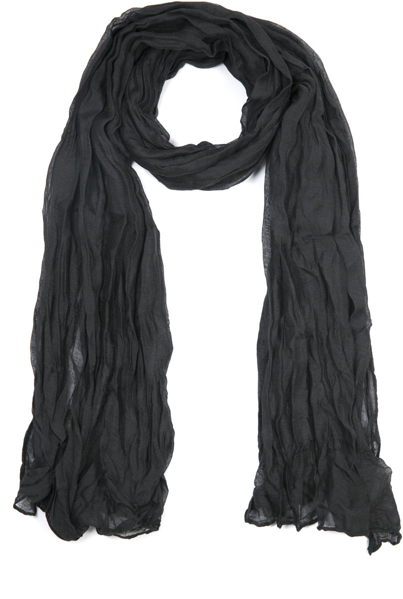 Шарф женский Mitya Veselkov, цвет: черный. SCARF2-BLACK. Размер 60 см x 80 смSCARF2-BLACKЖенский шарф от Mitya Veselkov - аксессуар, с помощью которого легко создать элегантный запоминающийся образ! Особенности модели: нежная на ощупь текстура; тонкость и удивительная лёгкость; изящный дизайн; 100% хлопок.