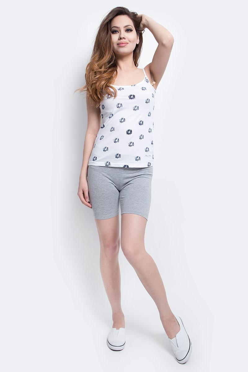 Шорты женские Sela, цвет: серый меланж. PLGs-115/840-7234. Размер XS (42)PLGs-115/840-7234Удобные женские шорты Sela отлично подойдут для отдыха или занятий спортом. Шорты прилегающего кроя длиной выше колена выполнены из качественного хлопкового материала. Модель стандартной посадки на талии имеет пояс на мягкой резинке.