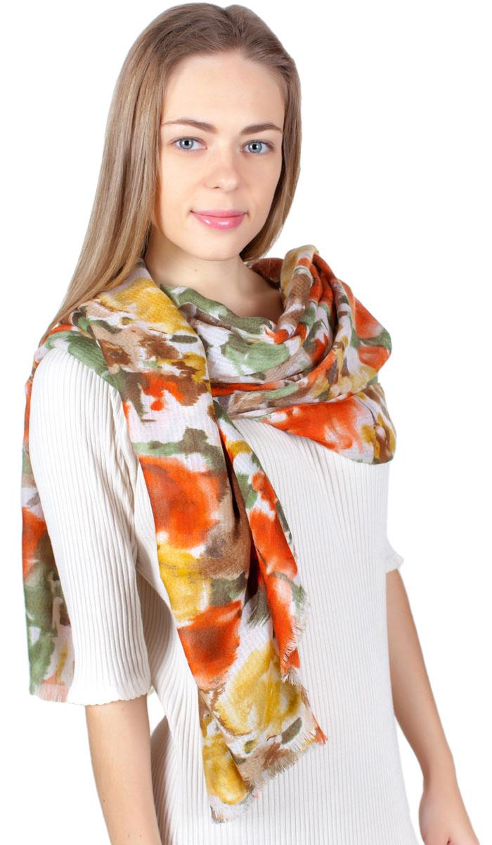 Палантин Sophie Ramage, цвет: желтый, оранжевый, серый. YY-11722-10. Размер 100 см х 180 смYY-11722-10Яркий палантин Sophie Ramage изготовлен из модала и шелка. Модель оформлена оригинальным принтом. Изделия Sophie Ramage приятные на ощупь и подойдут к любому стилю.