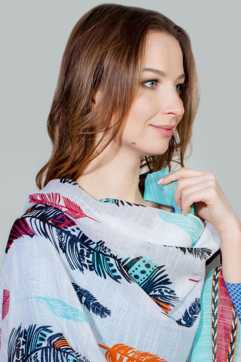 Палантин Sophie Ramage, цвет: бирюзовый, белый, красный. RW-11701-9. Размер 80 см х 180 смRW-11701-9Яркий палантин Sophie Ramage изготовлен из модала и шелка. Модель оформлена оригинальным принтом. Изделия Sophie Ramage приятные на ощупь и подойдут к любому стилю.