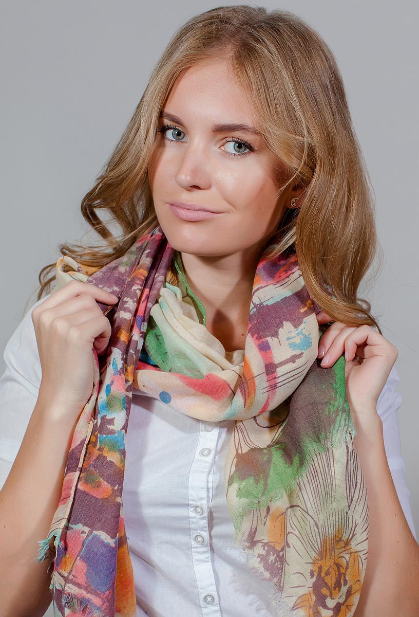 Палантин женский Fiona Fantozzi, цвет: зеленый. YY-11714-48. Размер 90 см х 180 смYY-11714-48Стильный палантин привлекательной расцветки изготовлен из модала и шелка. Он удачно дополнит ваш гардероб и поможет создать новый повседневный образ, добавить в него яркие краски. Отличный вариант для тех, кто стремится к самовыражению и новизне!