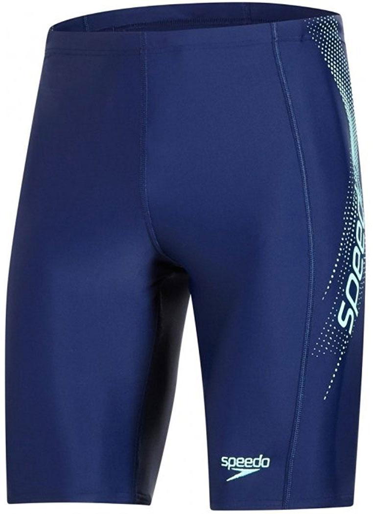 Плавки-шорты мужские Speedo Sports Logo Jammer, цвет: синий, зеленый. 8-09529B474-B474. Размер 36 (46/48)8-09529B474-B474Спортивные удлиненные плавки-шорты Speedo Sports Logo Jammer с контрастным лого принтом предназначены для тренировок в бассейне. Плавки имеют пояс на мягкой эластичной резинке и удобно садятся по фигуре, обеспечивая комфорт при любых видах активности в воде.Изделие выполнено с использованием технологии Endurance 10, благодаря чему используемый материал в 10 раз более устойчив к разрушающему воздействию хлора, чем обычные ткани с эластаном и спандексом.