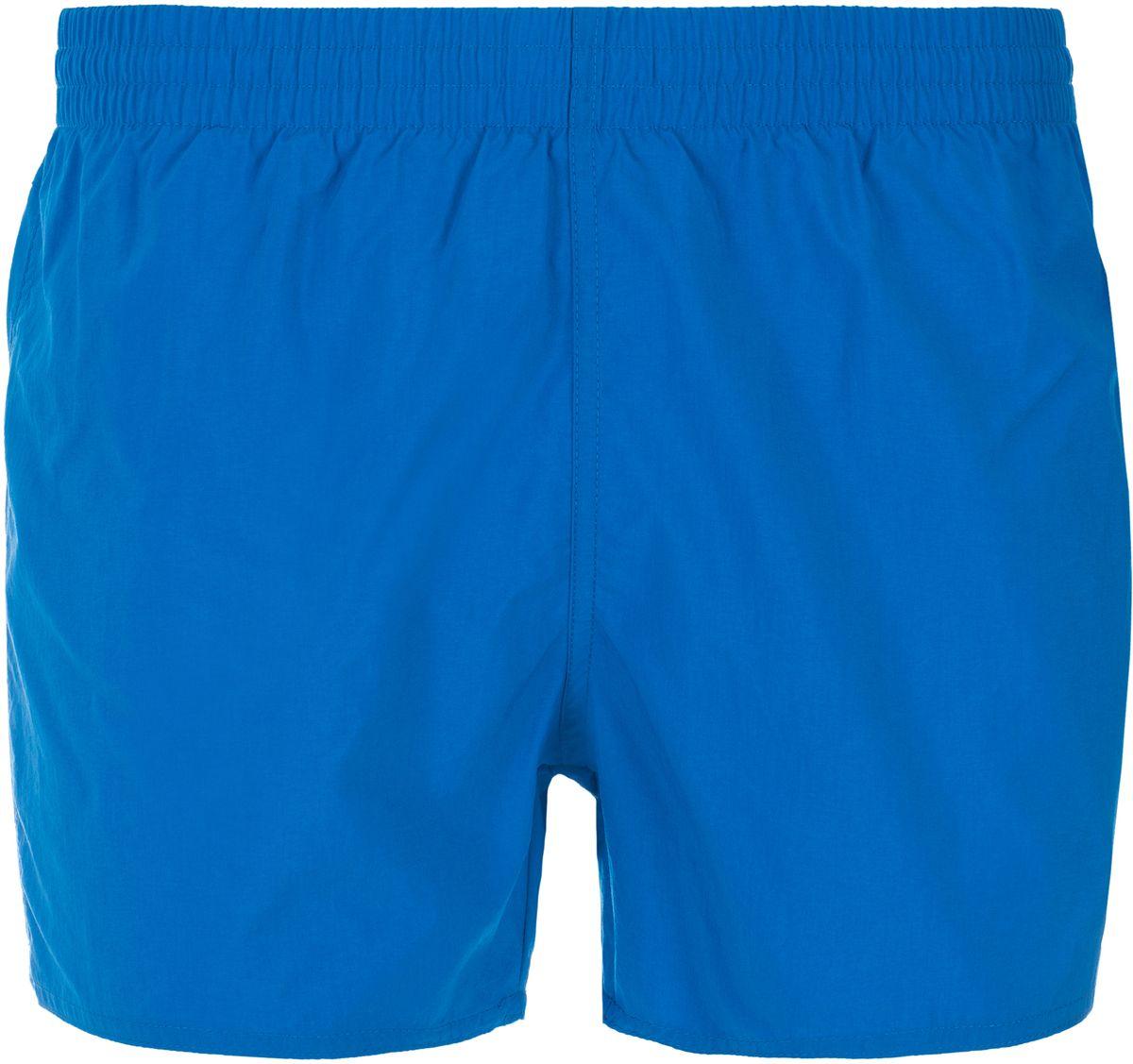 Шорты для плавания мужские Speedo Fitted Leisure 13 Watershort, цвет: голубой. 8-10609B446-B446. Размер M (48/50)8-10609B446-B446Мужские шорты для плавания Speedo Fitted Leisure 13 Watershort изготовлены из быстросохнущего материала. Легкая и прочная ткань со специальной обработкой Quick dry позволяет шортам быстро высыхать после намокания, не сковывает свободу движений. Материал с бархатистым эффектом имеет приятные тактильные свойства. Сетчатая несъемная вставка в виде трусов-слипов обеспечивает необходимую циркуляцию воздуха. Эластичный пояс со скрытым затягивающимся шнурком позволяет отрегулировать посадку точно по фигуре. По бокам расположены два прорезных кармана, подкладка которых выполнена из сетки, сзади - один накладной карман с клапаном на липучке. На карманах предусмотрена система слива воды. Изделие оформлено принтовой надписью, содержащей название бренда. Такие шорты - идеальный выбор для отдыха, купания и активных игр на пляже. В них вы всегда будете чувствовать себя уверенно и комфортно!