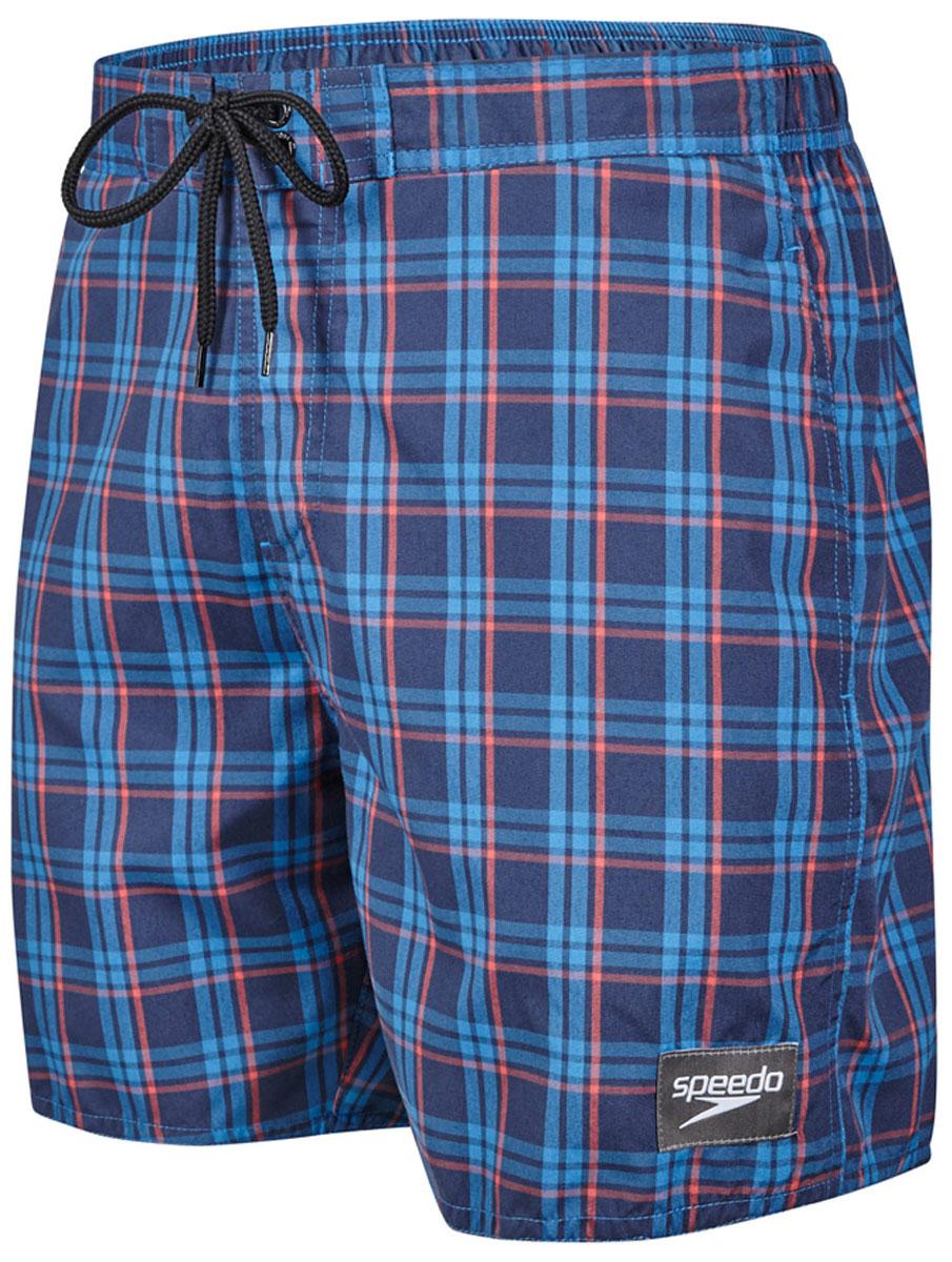 Шорты для плавания мужские Speedo YD Check Leisure 16 Watershort, цвет: синий, красный. 8-10866B593-B593. Размер XXL (54/56)8-10866B593-B593Мужские шорты для плавания Speedo YD Check Leisure 16 Watershort с принтом клетка выполнены по технологии yarn-dye, которая подразумевает прокрашивание нитей перед плетением ткани, что обеспечивает более стойкий цвет по сравнению с принтами, которые наносятся поверх готовой ткани. Легкая и прочная ткань со специальной обработкой Quick dry позволяет шортам быстро высыхать после намокания, не сковывает свободу движений. Сетчатая несъемная вставка в виде трусов-слипов обеспечивает необходимую циркуляцию воздуха. Эластичный пояс с затягивающимся шнурком позволяет отрегулировать посадку точно по фигуре. По бокам расположены два прорезных кармана, подкладка которых выполнена из сетки, сзади - один прорезной карман на липучке. На карманах предусмотрена система слива воды. Изделие оформлено нашивкой с названием бренда. Такие шорты - идеальный выбор для отдыха, купания и активных игр на пляже. В них вы всегда будете чувствовать себя уверенно и комфортно!