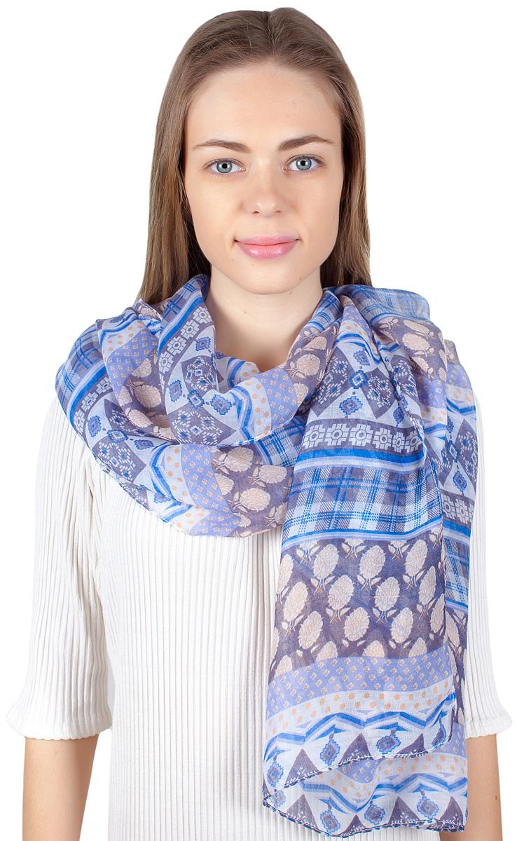 Палантин женский Fiona Fantozzi, цвет: синий. YY-11705-3. Размер 80 см х 180 смYY-11705-3Стильный палантин привлекательной расцветки изготовлен из модала и шелка. Он удачно дополнит ваш гардероб и поможет создать новый повседневный образ, добавить в него яркие краски. Отличный вариант для тех, кто стремится к самовыражению и новизне!