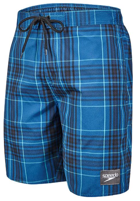Шорты для плавания мужские Speedo YD Check Leisure 18 Watershort, цвет: голубой, черный. 8-10865B587-B587. Размер M (48/50)8-10865B587-B587Мужские шорты для плавания Speedo YD Check Leisure 18 Watershort с принтом клетка выполнены по технологии yarn-dye, которая подразумевает прокрашивание нитей перед плетением ткани, что обеспечивает более стойкий цвет по сравнению с принтами, которые наносятся поверх готовой ткани. Легкая и прочная ткань со специальной обработкой Quick dry позволяет шортам быстро высыхать после намокания, не сковывает свободу движений. Сетчатая несъемная вставка в виде трусов-слипов обеспечивает необходимую циркуляцию воздуха. Эластичный пояс с затягивающимся шнурком позволяет отрегулировать посадку точно по фигуре. По бокам расположены два прорезных кармана, подкладка которых выполнена из сетки, сзади - один прорезной карман на липучке. На карманах предусмотрена система слива воды. Изделие оформлено нашивкой с названием бренда. Такие шорты - идеальный выбор для отдыха, купания и активных игр на пляже. В них вы всегда будете чувствовать себя уверенно и комфортно!
