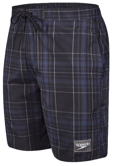 Шорты для плавания мужские Speedo YD Check Leisure 18 Watershort, цвет: черный. 8-10865B588-B588. Размер M (48/50)8-10865B588-B588Мужские шорты для плавания Speedo YD Check Leisure 18 Watershort с принтом клетка выполнены по технологии yarn-dye, которая подразумевает прокрашивание нитей перед плетением ткани, что обеспечивает более стойкий цвет по сравнению с принтами, которые наносятся поверх готовой ткани. Легкая и прочная ткань со специальной обработкой Quick dry позволяет шортам быстро высыхать после намокания, не сковывает свободу движений. Сетчатая несъемная вставка в виде трусов-слипов обеспечивает необходимую циркуляцию воздуха. Эластичный пояс с затягивающимся шнурком позволяет отрегулировать посадку точно по фигуре. По бокам расположены два прорезных кармана, подкладка которых выполнена из сетки, сзади - один прорезной карман на липучке. На карманах предусмотрена система слива воды. Изделие оформлено нашивкой с названием бренда. Такие шорты - идеальный выбор для отдыха, купания и активных игр на пляже. В них вы всегда будете чувствовать себя уверенно и комфортно!