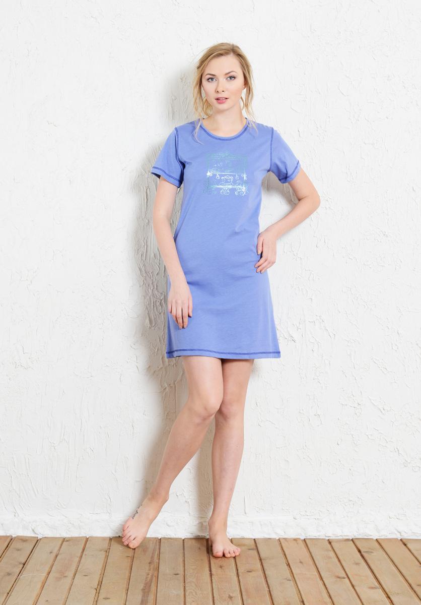 Платье домашнее Vienettas Secret, цвет: лавандовый. 511109 5256. Размер XL (50)511109 5256Домашнее платье Vienettas Secret выполнено из 100% натурального хлопка. Изделие имеет круглый вырез горловины, стандартные короткие рукава и длину мини. Модель прямого кроя не стесняет движений и комфортна для домашней носки. Платье выполнено в однотонном дизайне.