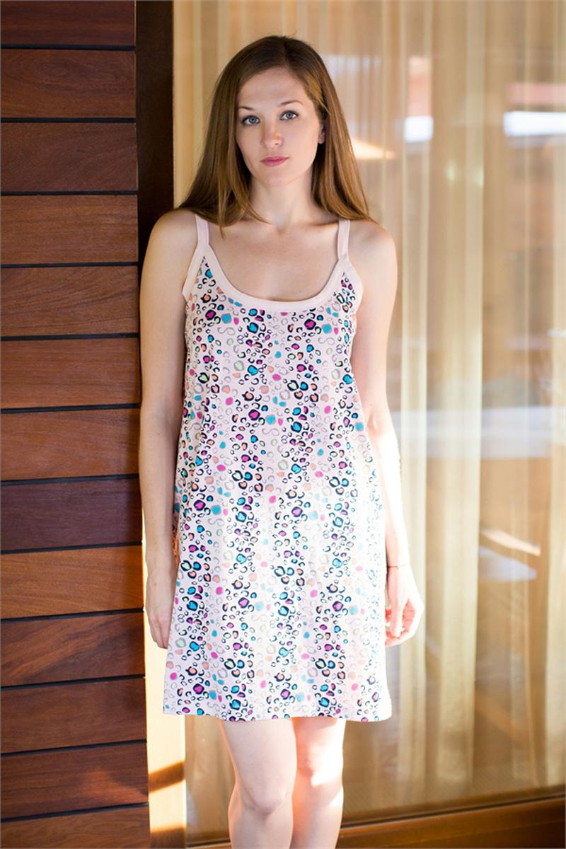 Платье домашнее Vienettas Secret, цвет: светло-розовый. 411034 4016. Размер XL (50/52)411034 4016Домашнее платье Vienettas Secret выполнено из 100% натурального хлопка. Изделие на бретельках имеет декольте с круглым вырезом и длину мини. Модель свободного кроя не стесняет движений и комфортна для домашней носки. Платье дополнено ярким принтом.