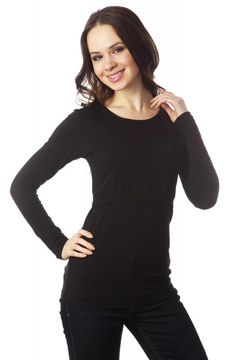 Лонгслив для беременных и кормящих Mums Era Basic, цвет: черный. 9487. Размер L (50)9487Когда в простой футболке уже холодно, а в теплом джемпере еще жарко, идеальным решением станет лонгслив Mum's Era, который отлично подходит для беременных и кормящих. Лонгслив имеет длинные рукава стандартного кроя и круглый вырез горловины. Исполненный из вискозы с добавлением лайкры, он приятен к телу и эластичен. При беременности нежно укроет растущий животик, а после родов удобный секрет для кормления позволит с комфортом кормить вашего малыша.