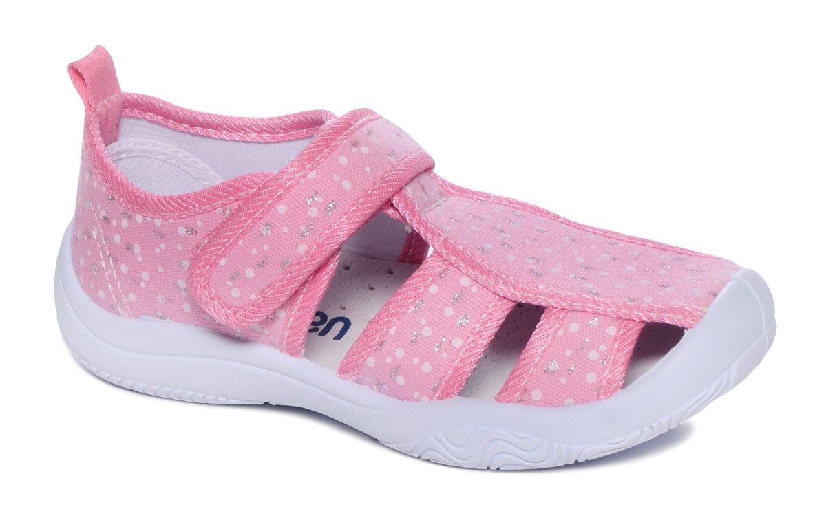 Туфли для девочки Mursu, цвет: розовый. 101232. Размер 30101232Материал верха: хлопок; Материал подкладки: хлопок; Материал подошвы: ПВХ; Материал стельки: натуральная кожа.