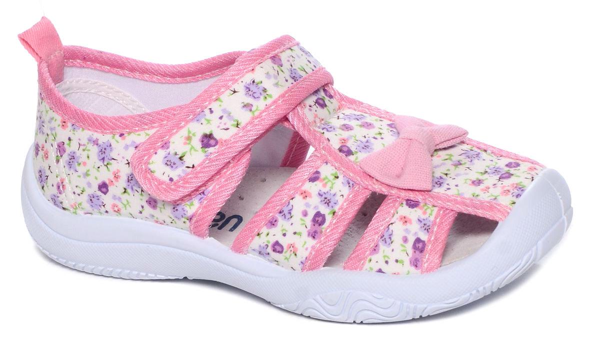 Туфли для девочки Mursu, цвет: розовый. 101228. Размер 32101228Туфельки Mursu выполнены из текстиля, оформленного оригинальными рисунками и декоративным бантиком. Удобная застежка-липучка обеспечивает практичность и комфортную фиксацию модели на ноге. Рифление на подошве гарантирует идеальное сцепление с любой поверхностью. Усиленный задник препятствует деформации задней части верха в процессе носки.