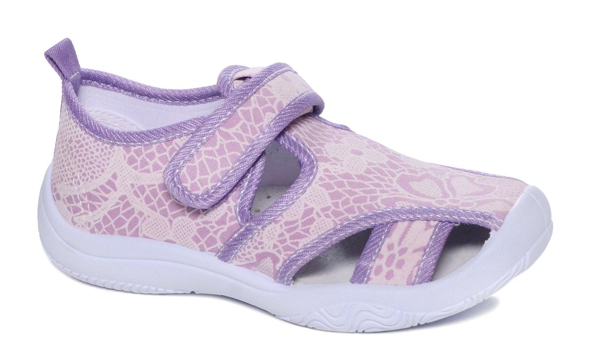 Туфли для девочки Mursu, цвет: светло-сиреневый. 101239. Размер 30101239Сандалии Mursu выполнены из текстиля, оформленного оригинальными рисунками. Удобная застежка-липучка обеспечивает практичность и комфортную фиксацию модели на ноге. Рифление на подошве гарантирует идеальное сцепление с любой поверхностью. Усиленный задник препятствует деформации задней части верха в процессе носки.