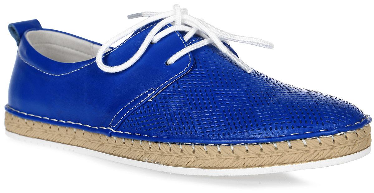 Полуботинки женские Francesco Donni, цвет: синий. P415 616XS-B57-34G40. Размер 37P415 616XS-B57-34G40Стильные и невероятно удобные женские полуботинки выполнены из натуральной кожи. Верх изделия дополнен шнуровкой, которая надежно фиксирует модель на ноге. Рифленая подошва обеспечивает отличное сцепление с поверхностью.