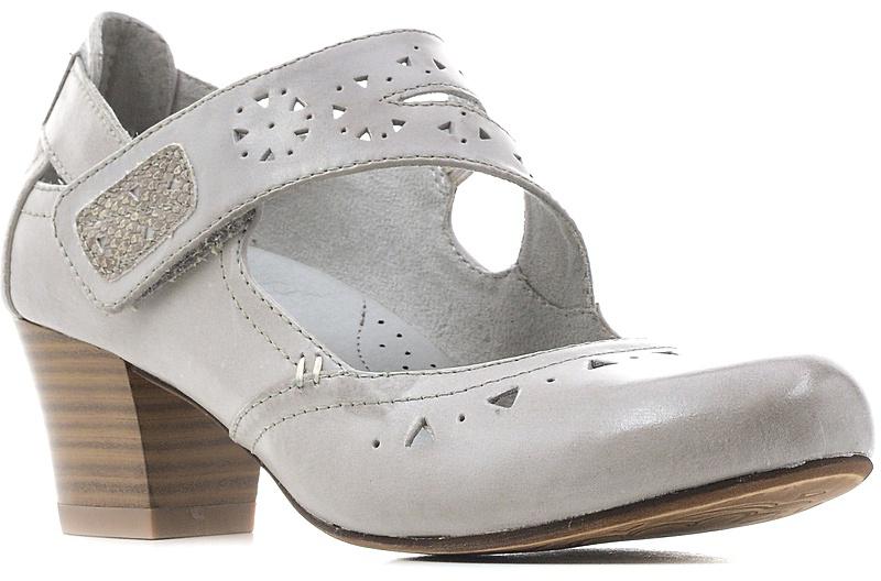 Туфли женские Jana, цвет: светло-серый. 8-8-24307-28-204/224. Размер 408-8-24307-28-204/224Модные женские туфли от Jana выполнены из натуральной кожи и оформлены перфорацией. Внутренняя поверхность из текстиля и стелька из искусственной кожи гарантируют комфорт. Ремешок с застежкой-липучкой надежно зафиксирует модель на ноге. Подошва и каблук средней высоты дополнены рифлением.