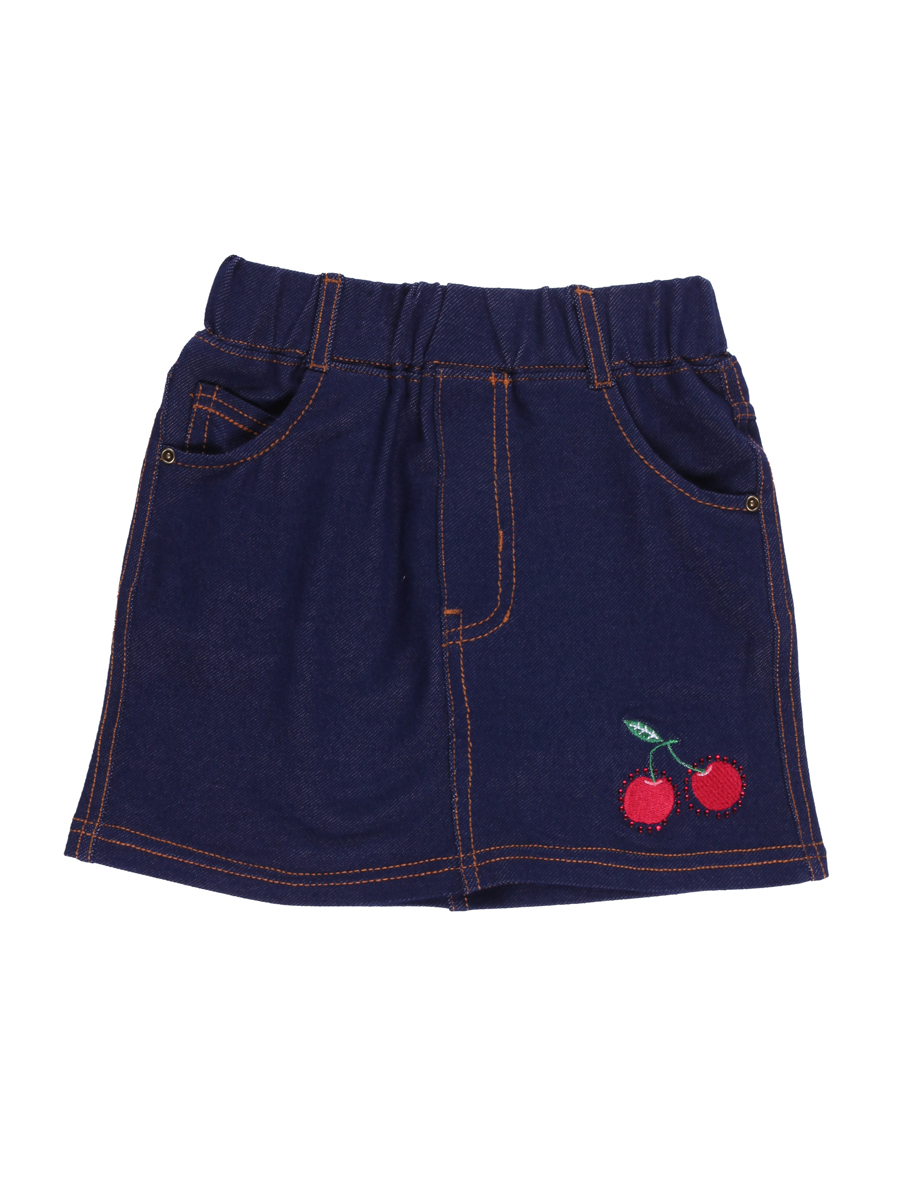 Юбка для девочки Sweet Berry, цвет: темно-синий. 714179. Размер 104714179Стильная юбка для девочки Sweet Berry выполнена из мягкого джинсового материала и оформлена вышивкой со стразами и контрастной строчкой. Модель мини-длины с имитацией ширинки имеет пояс на мягкой эластичной резинке со шлевками для ремня. Изделие дополнено двумя втачными и одним накладным кармашком спереди и двумя накладными карманами сзади.