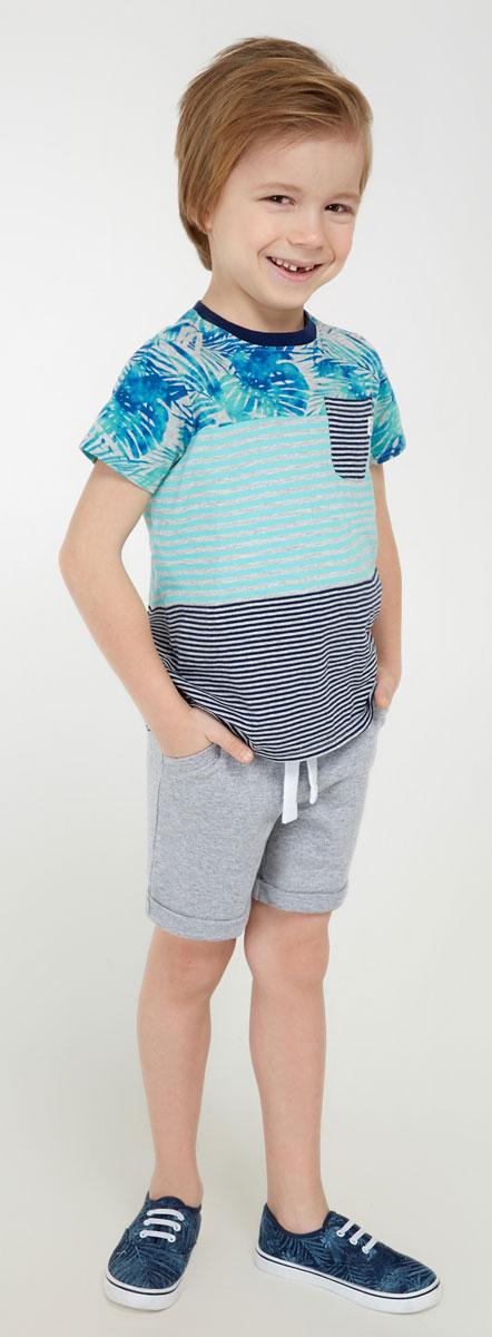 Шорты для мальчика Acoola Ahat, цвет: серый. 20120420020_1900. Размер 12220120420020_1900Удобные шорты для мальчика Acoola Ahat идеально подойдут вашему маленькому моднику. Изготовленные из 100% хлопка, они не сковывают движения, отводят влагу от тела и позволяют коже дышать, обеспечивая наибольший комфорт. Шорты прямого кроя имеют широкую эластичную резинку на поясе, которая надежно фиксирует изделие и не сдавливает животик малыша. Объем талии регулируется при помощи шнурка-кулиски. Модель дополнена боковыми карманами и модными отворотами. Практичные и стильные шорты идеально подойдут вашему малышу, а модная расцветка и высококачественный материал позволят ему комфортно чувствовать себя в течение дня и всегда оставаться в центре внимания!
