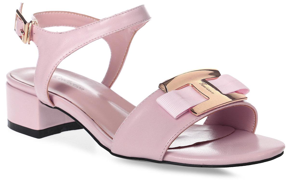 Босоножки женские LK collection, цвет: розовый. SP-QA0401-2 PU (SP-Q03002-5). Размер 38SP-QA0401-2 PU (SP-Q03002-5)Стильные босоножки на низком каблуке выполнены из искусственной кожи. Стелька выполнена из натуральной кожи. Босоножки фиксируются на ноге при помощи застежки-пряжки.