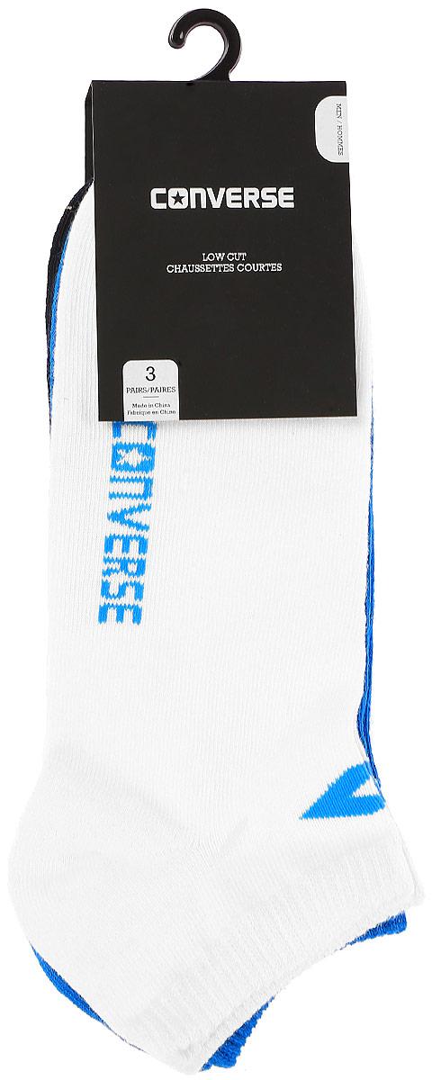 Носки Converse Converse Socks, цвет: черный, синий, белый, 3 пары. E217W3010. Размер 39/42E217W3010Мужские носки Converse изготовлены из качественного смесового текстиля на основе хлопка. Модель оформлена буквенным принтом с названием бренда. Эластичная резинка плотно облегает ногу, не сдавливая ее.
