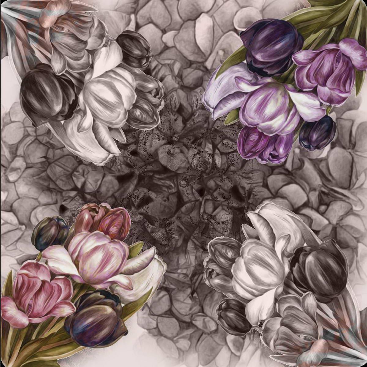 Платок Venera, цвет: серый, фиолетовый, оливковый. 3902627-12. Размер 90 см х 90 см3902627-12Платок Venera выполнен из 100% полиэстера. Материал мягкий, уютный и приятный на ощупь. Модель дополнена интересным зеркальным принтом. Отличный выбор для повседневного городского образа. Необычный рисунок привлечет внимание окружающих. В нем вы будете неповторимы.