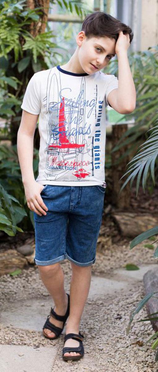 Шорты для мальчика Luminoso, цвет: синий. 717009. Размер 158717009Джинсовые шорты для мальчика застегиваются на молнию и пуговицу. В боковой части пояса находятся вшитые эластичные ленты, регулирующие посадку по талии.