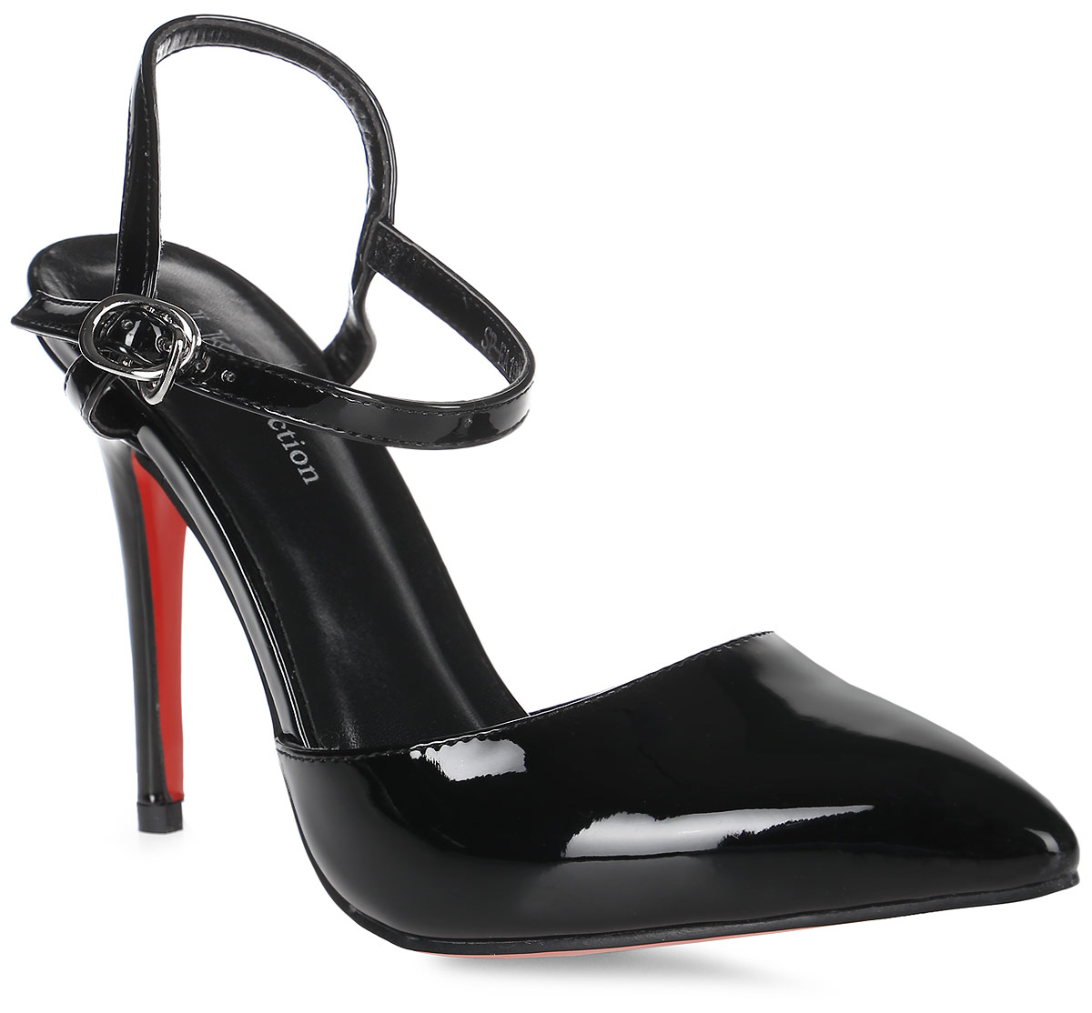 Туфли женские LK Collection, цвет: черный. SP-EA1901-1 PU (SP-E20001-1). Размер 39SP-EA1901-1 PU (SP-E20001-1)Стильные туфли-лодочки с открытой пяткой на высокой шпильке выполнены из искусственной кожи. Стелька выполнена из натуральной кожи.