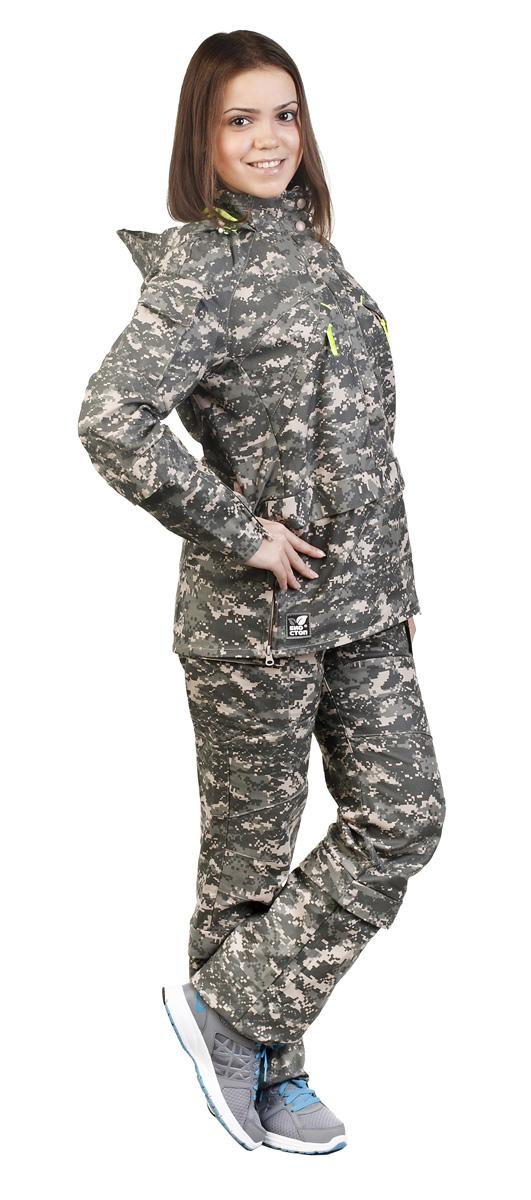 Костюм противоэнцефалитный для девочки Биостоп, цвет: зеленый камуфляж. 06/5/07. Размер 40-80/15806/5/07Детский костюм Биостоп защитит от укуса клещей вашего ребенка. Схема расположения ловушек на костюме доработана с учетом роста детей. Куртка с застежкой на молнию, надевается через голову, молния закрыта двумя планками. Обработанные противоклещевым средством участки костюма не контактируют с кожей. Капюшон куртки дополнен козырьком и затягивается на шнурок со стопперами. Костюм снабжен сигнальными элементами. В костюме Биостоп ребенок будет чувствовать себя не только безопасно, но и комфортно: его крой нисколько не стесняет движений. Обработанные противоклещевым средством участки костюма не контактируют с кожей. Защитные свойства костюма сохраняются даже после 50 стирок.