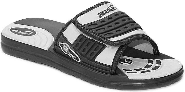 Шлепанцы для мальчика Эмальто, цвет: черный, белый. 6012А. Размер 366012АЛегкие шлепанцы Эмальто для мальчика выполнены из мягкого водонепроницаемого материала ЭВА. Широкая перемычка с застежкой-липучкой надежно зафиксирует обувь на ноге. Невесомая подошва из ЭВА материала с рифлением обеспечит отличное сцепление с любой поверхностью. Такие шлепанцы прекрасно подойдут для похода в бассейн или для поездки на пляж.