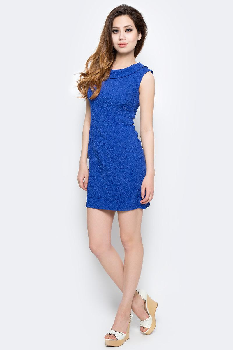 Платье Milton, цвет: синий. WD-2485F. Размер 42WD-2485FПлатье прилегающего силуэта, без рукавов, с круглым вырезом горловины.