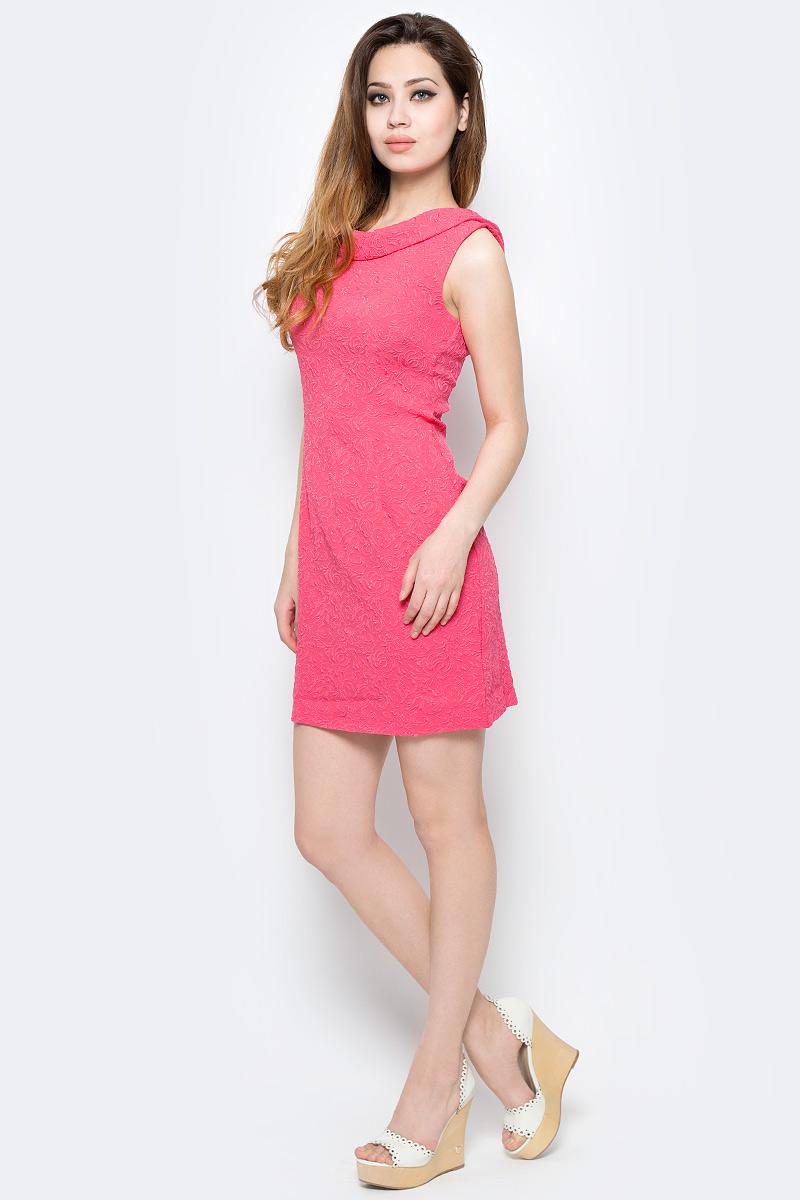 Платье Milton, цвет: розовый. WD-2485F. Размер 44WD-2485FПлатье прилегающего силуэта, без рукавов, с круглым вырезом горловины.