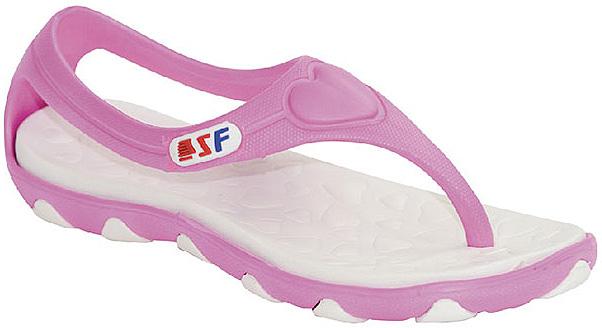 Сланцы для девочки Step Forward, цвет: белый, розовый. T-48W. Размер 40T-48WЛегкие и удобные сланцы Step Forward придутся по душе вашей девочке. Модель выполнена из ЭВА. Удобные ремешки с перемычкой гарантируют надежную фиксацию изделия на ноге. Рельефное основание подошвы обеспечивает уверенное сцепление с любой поверхностью. Стильные сланцы прекрасно подойдут для похода в бассейн или на пляж.