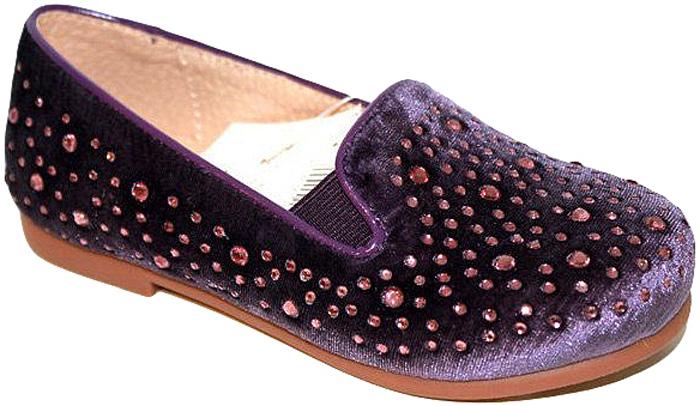 Слиперы для девочки Leopard Kids, цвет: фиолетовый. RLX-510518-8. Размер 32RLX-510518-8Трендовые слиперыот Leopard Kids покорят вашу девочку своим дизайном. Модель выполнена из текстиля и оформлена россыпью декоративных кристаллов. Подъем слиперов дополнен небольшими вырезами с резинками. Стелька из натуральной кожи обеспечивает комфорт при движении. Рифленая поверхность каблука и подошвы гарантирует отличное сцепление с любыми поверхностями. Эффектные слиперы подчеркнут стиль и яркую индивидуальность. В них ваша модница будет чувствовать себя уютно и комфортно!