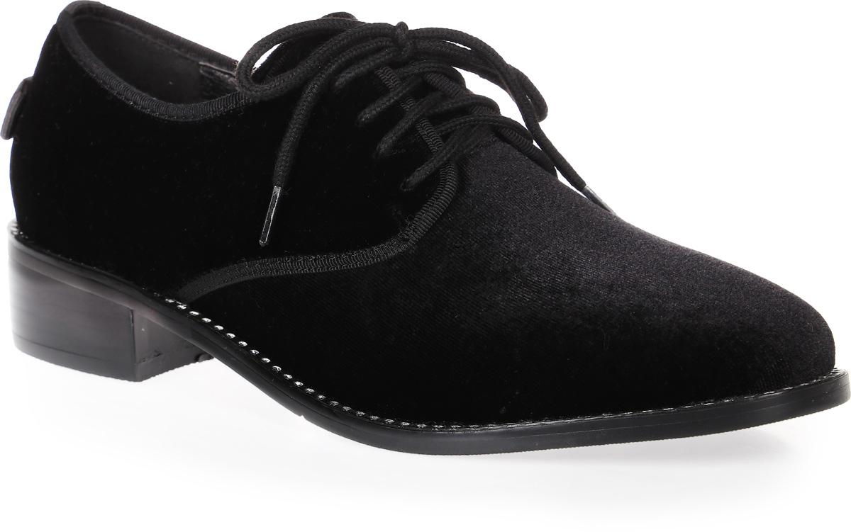 Полуботинки женские LK collection, цвет: черный. SP-PA0701-2 PU (SP-P20001-D). Размер 36SP-PA0701-2 PU (SP-P20001-D)Модные женские ботинки на низком квадратном каблуке выполнены из текстиля. Стелька выполнена из натуральной кожи. На подъеме модель фиксируется шнуровкой.