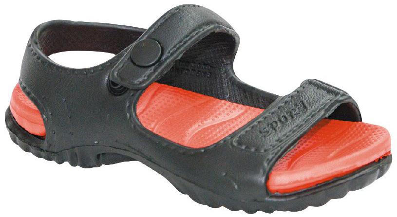 Сандалии для мальчика Step Forward, цвет: черный, красный. Т-016В. Размер 33Т-016ВРезиновые сандалии Step Forward не оставят равнодушным вашего мальчика. Модель изготовлена из износостойкого материала EVA. Специальная рельефная подошва препятствует скольжению, что делает передвижение по бассейну более безопасным. Сандалии прекрасно подойдут для повседневного использования в бассейне, дома или на отдыхе.