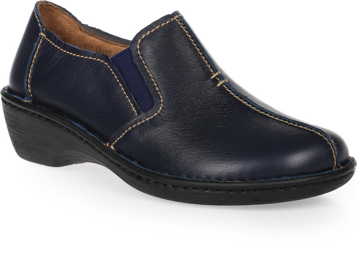 Полуботинки женские Francesco Donni, цвет: синий. P41T 664NS-Y92-08G84. Размер 40P41T 664NS-Y92-08G84Стильные и невероятно удобные женские полуботинки выполнены из натуральной кожи. Эластичные вставки на подъеме обеспечат надежную фиксацию модели на ноге. Рифленая подошва обеспечивает отличное сцепление с поверхностью.