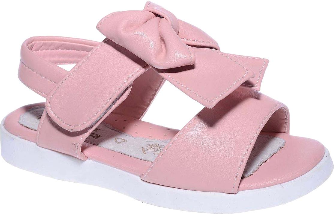 Босоножки для девочки Счастливый ребенок, цвет: розовый. LG888-8С. Размер 28LG888-8СБосоножки для девочки Счастливый ребенок выполнены из искусственной кожи и оформлены на подъеме бантом. На ноге модель фиксируется с помощью ремешка с липучкой. Внутренняя поверхность и стелька изготовлены из натуральной кожи. Подошва из полимерного термопластичного материала оснащена рифлением.