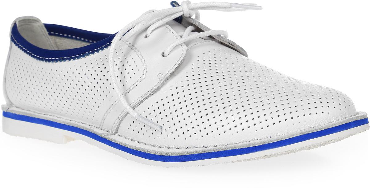 Полуботинки женские Francesco Donni, цвет: белый. P415 615XS-B55-09G84. Размер 41P415 615XS-B55-09G84Стильные и невероятно удобные женские полуботинки выполнены из натуральной кожи. Верх изделия дополнен шнуровкой, которая надежно фиксирует модель на ноге. Рифленая подошва обеспечивает отличное сцепление с поверхностью.