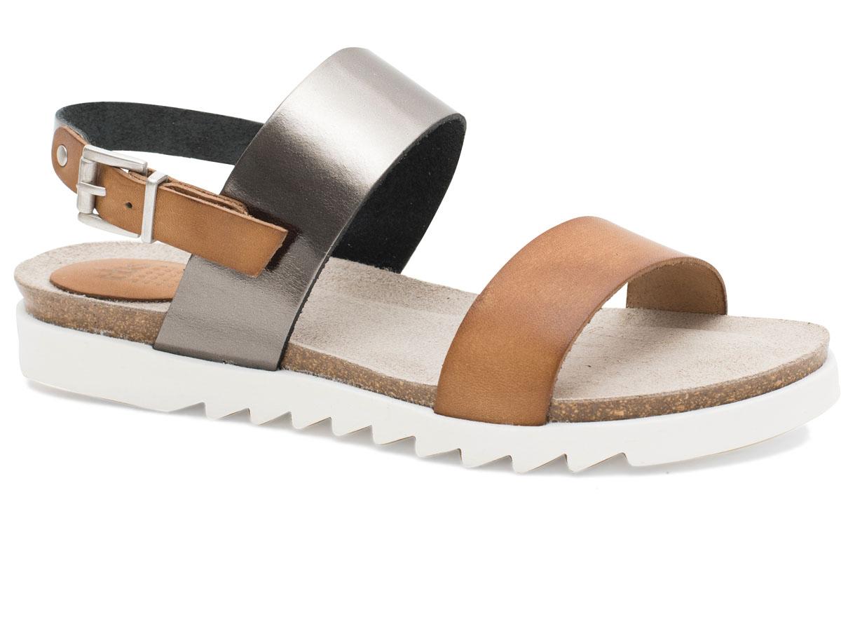 Сандалии женские TBS Tamara, цвет: коричневый. TAMARA-A7F95. Размер 39 (38)TAMARA-A7F95Модные женские сандалии Tamara от TBS выполнены из натуральной кожи высочайшего качества. Широкие перемычки на подъеме и ремешок с пряжкой надежно фиксируют модель на ноге. Внутренняя поверхность и стелька из кожи не натирают и создают комфорт. Подошва из резины дополнена рифлением для отличного сцепления с поверхностью. Такие сандалии - прекрасный вариант на лето, для тех, кто ценит качество, практичность и лаконичный стиль.