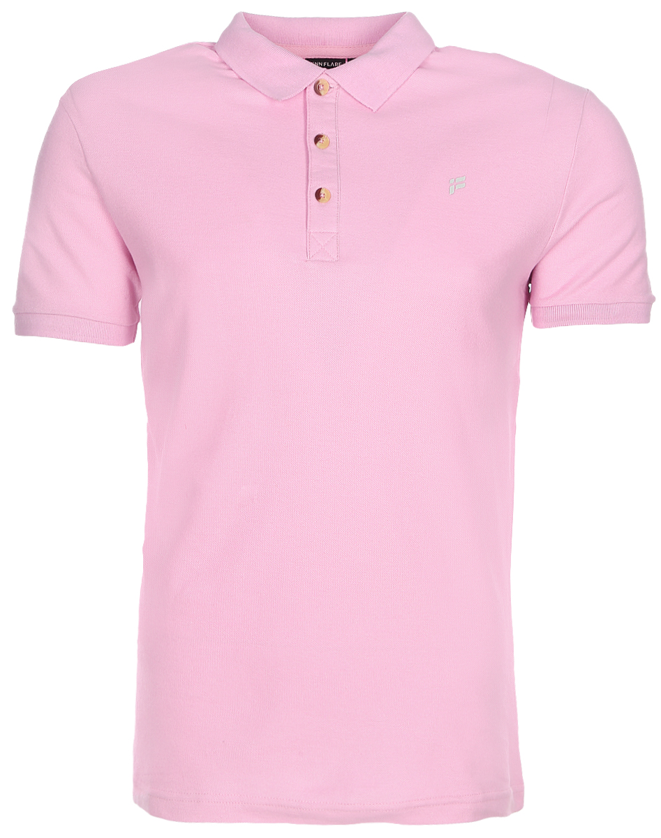 Поло мужское Finn Flare, цвет: розовый мрамор. S17-21024_812. Размер M (48)S17-21024_812Поло мужское Finn Flare выполнено из натурального хлопка. Модель с отложным воротником и короткими рукавами.