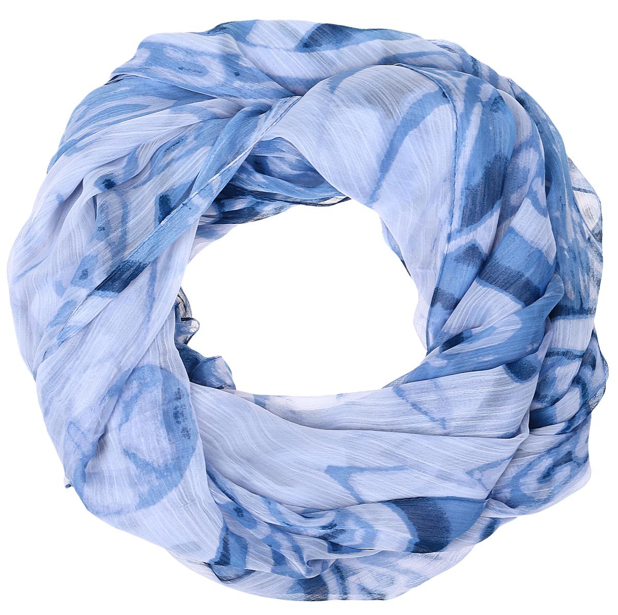 Палантин Sophie Ramage, цвет: синий, голубой. HL-11730-6. Размер 80 см х 180 смHL-11730-6Яркий палантин Sophie Ramage изготовлен из модала и шелка. Модель оформлена оригинальным принтом. Изделия Sophie Ramage приятные на ощупь и подойдут к любому стилю.