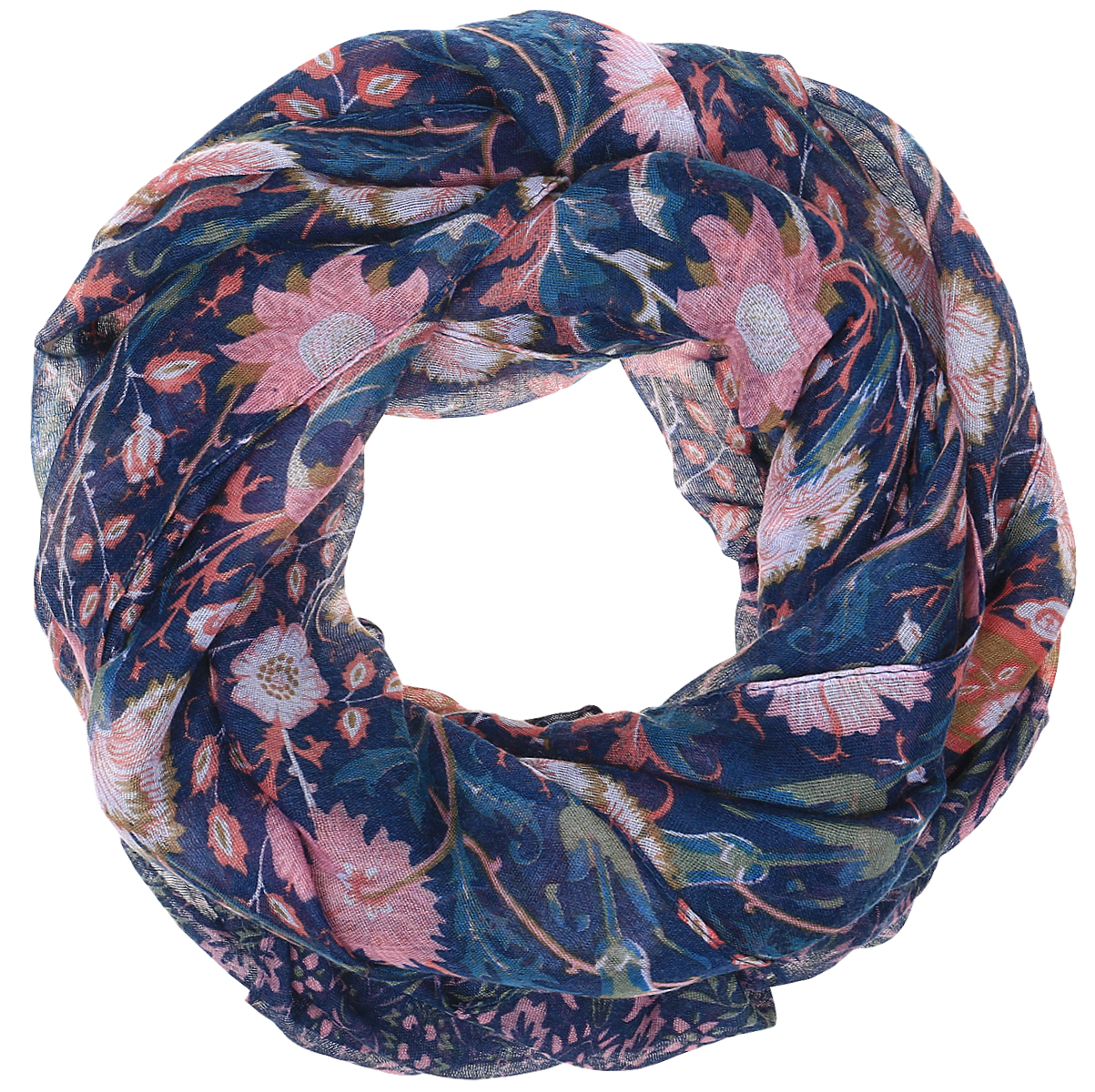 Палантин Sophie Ramage, цвет: синий, розовый. BT-11701-51. Размер 50 см х 160 смBT-11701-51Яркий палантин Sophie Ramage изготовлен из модала и шелка. Модель оформлена оригинальным принтом. Изделия Sophie Ramage приятные на ощупь и подойдут к любому стилю.